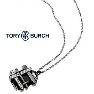 ■Tory Burch■ Pave Gingham Necklace